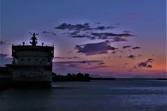 琵琶湖学習船「うみのこ」夕暮れ