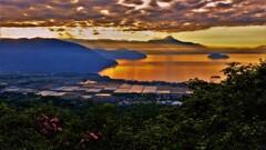 琵琶湖低ポッチ朝景 7