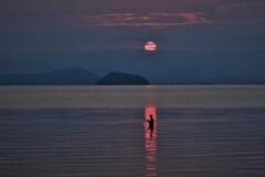 湖辺の朝釣り 2