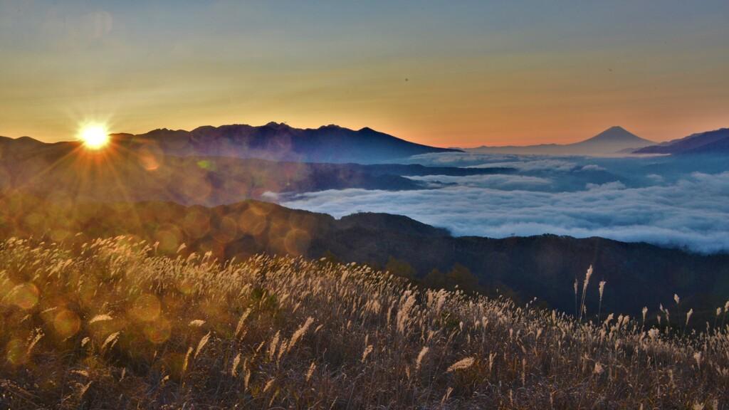 高ボッチ高原の朝日
