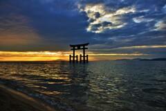 琵琶湖鳥居