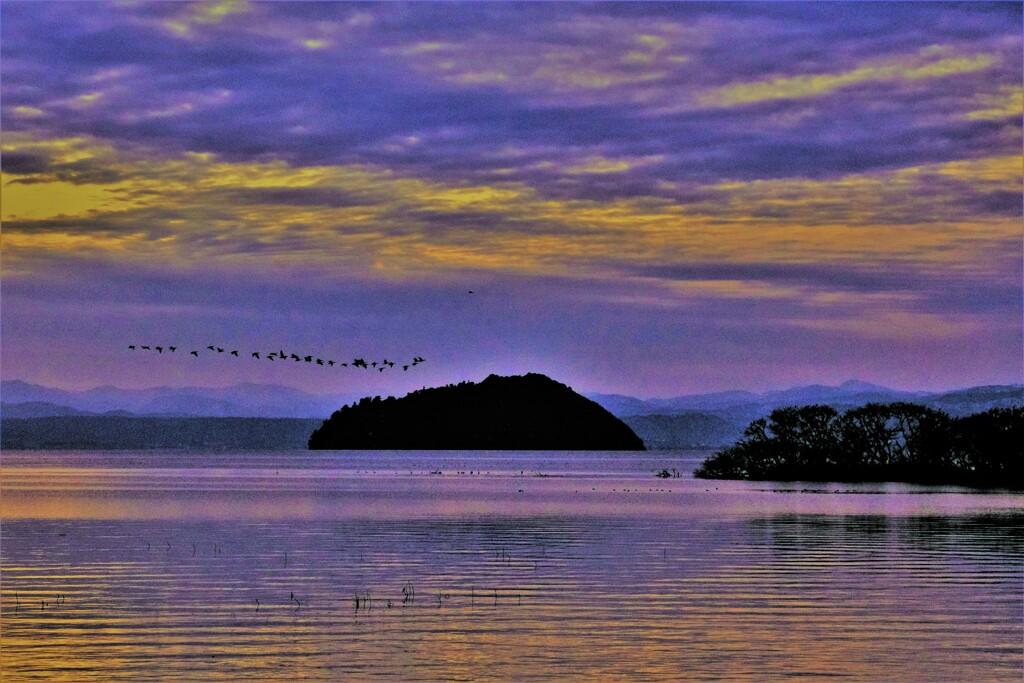 湖北冬夕景