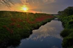 津屋川の日の出