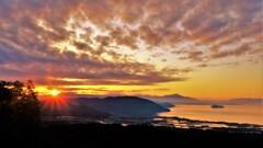 琵琶湖低ポッチ朝景 4