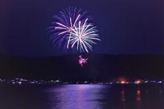 余呉湖の花火 2