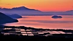 琵琶湖低ポッチ朝景 3