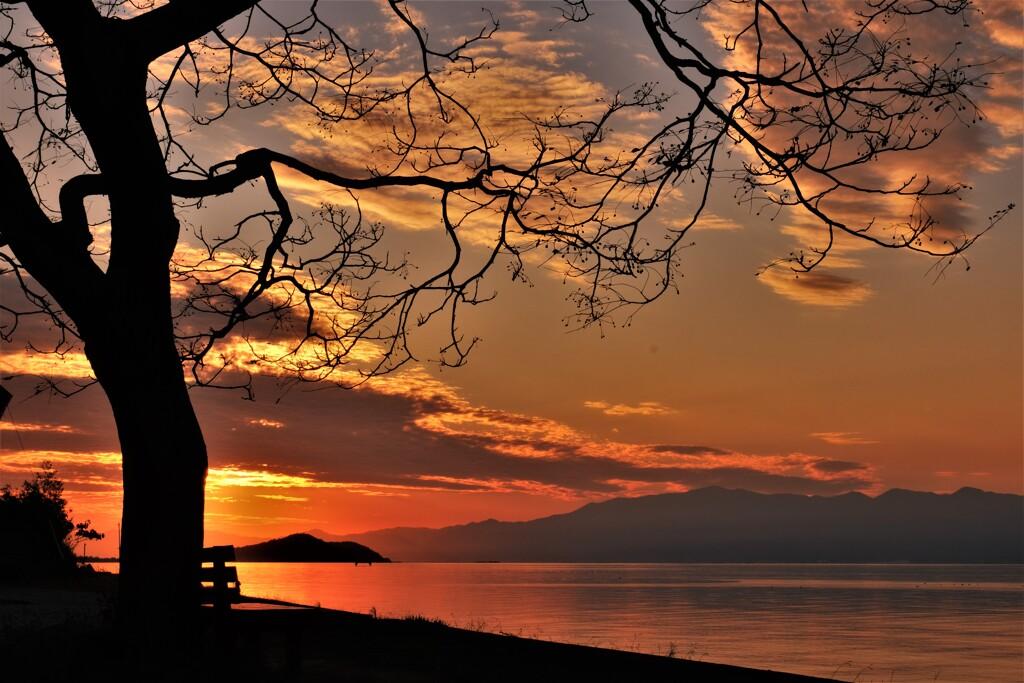 晩秋の夕暮れ