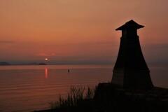 淡海常夜灯の朝景 4