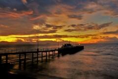 観光船桟橋の朝 3