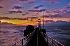 観光船桟橋の朝 1