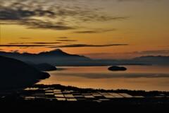 琵琶湖低ポッチ朝景 2
