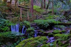 名水百選「瓜割の滝」 6-6