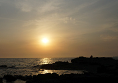 夕陽よりスマホ
