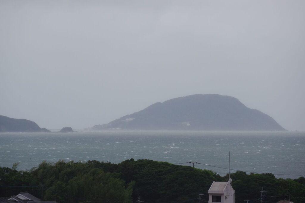 台風の玄界島