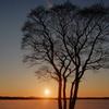 クッチャロ湖の落日
