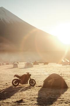 ふもとっぱらキャンプ場の朝