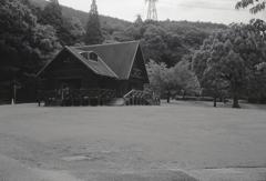 ログハウスの休憩所