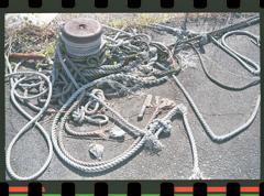 ロープとボラード