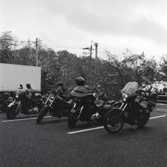 カスタムバイクはモノクロフィルムが似合う