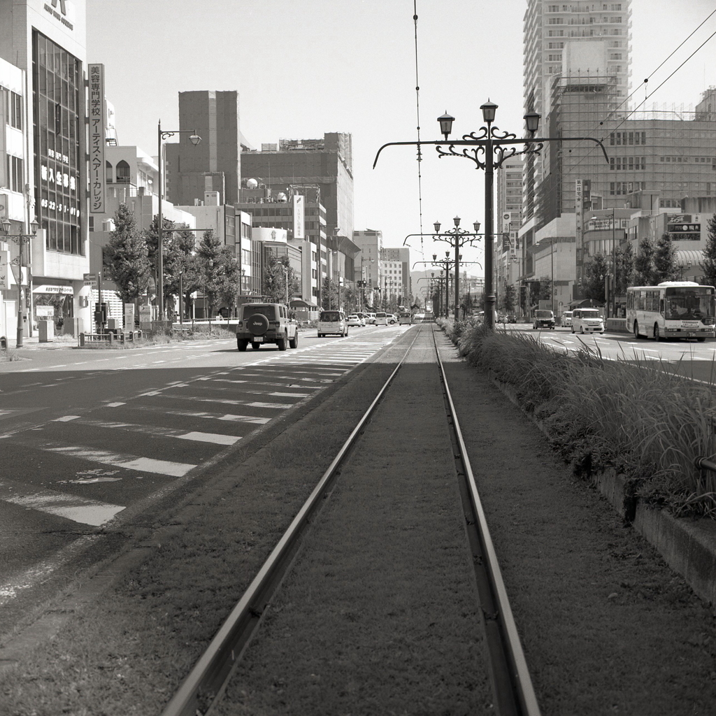 路面の線路