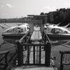 閉ざされたボート桟橋