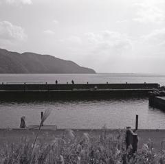 奥琵琶湖の釣り人