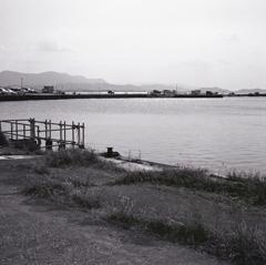 湖岸のボラード