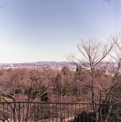 平和公園から市内、そして御岳山…見えずらいね。(苦笑
