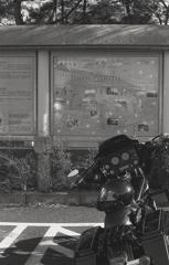 道の駅のツーリングバイク