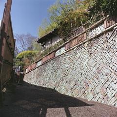 陶器の擁壁