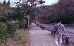 長瀞駅へ下る坂道