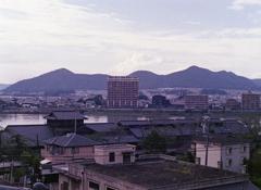 木曽川と犬山城框
