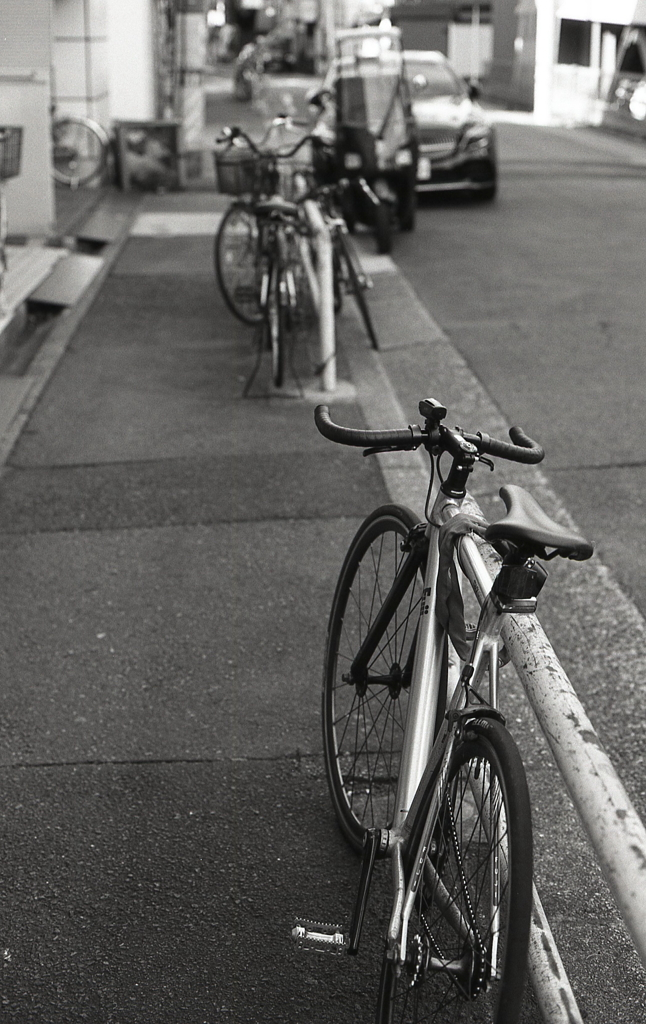 何気に自転車にパシャリ!