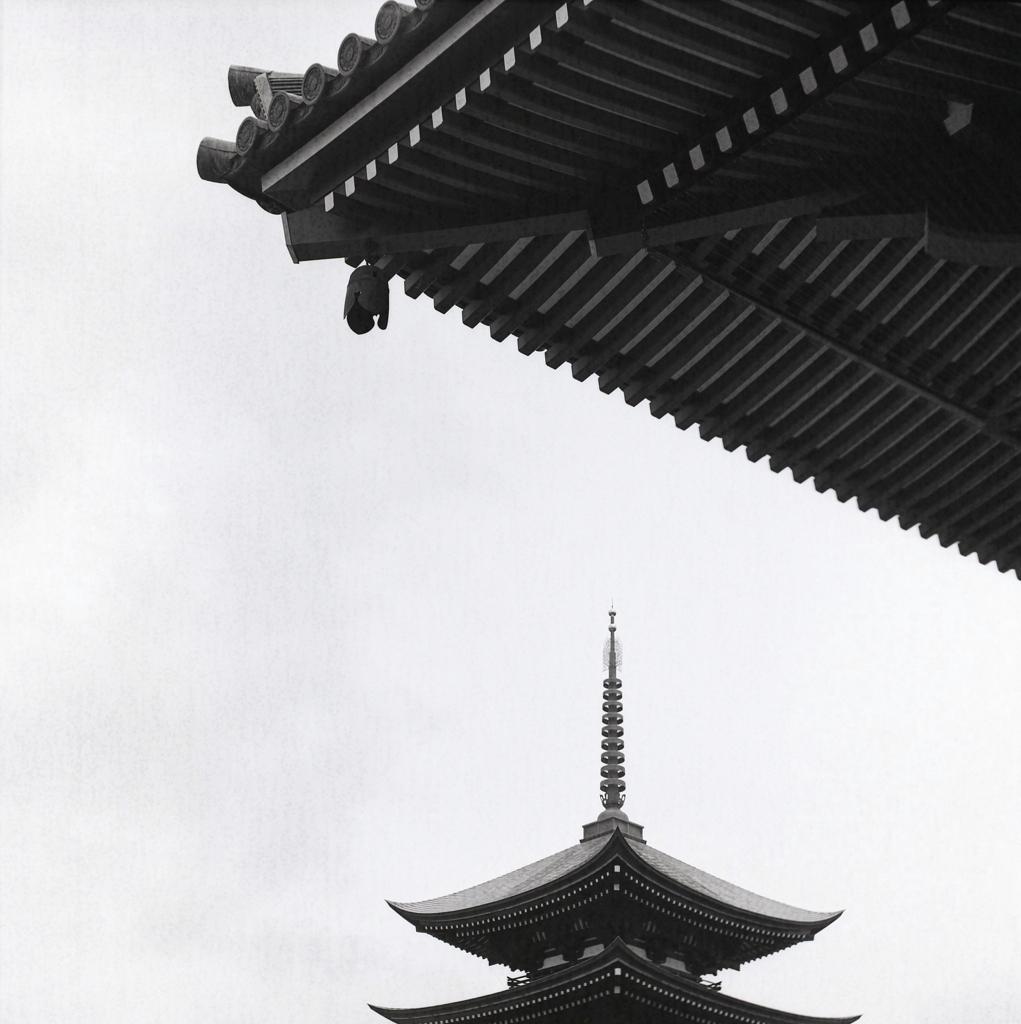 山門から五重塔 ~覚王山日泰寺