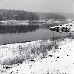 冬の松野湖