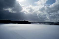 雪と晴れの隙間