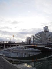天神橋と水鏡