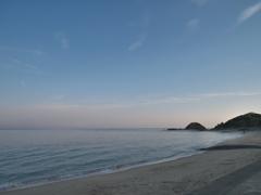 朝の志賀島 砂浜