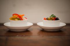 自家製ピクルスとミニトマトとオリーブのマリネ。