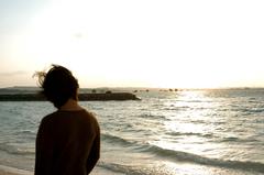 沖縄の海で