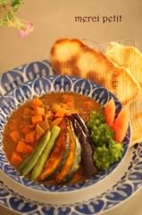 7種の野菜のスパイシーカレー&手作りナン