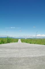 爽快な空、爽快な道。