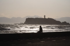 午後の海を見に