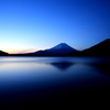 明けの明星と富士