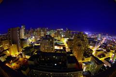 HIlton SF night view