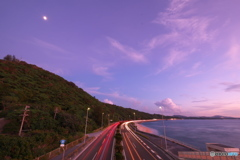magic purple at Nago Bay