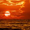 夏雲の夕焼け