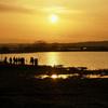 宮島沼の夕日