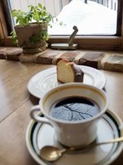 コーヒーの中に
