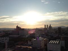 堺の朝焼け空